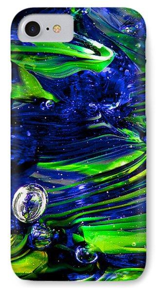 Glass Macro Seattle Seahawks Wave IPhone Case