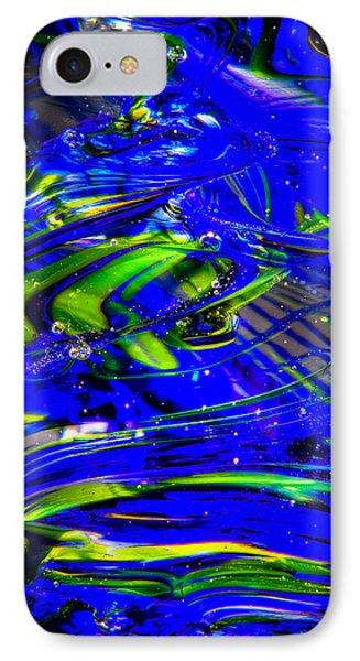 Glass Macro Abstract Seahawks Blue And Green IPhone Case