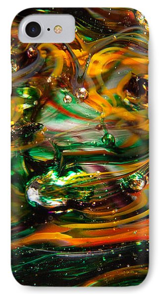 Glass Macro Abstract Ego1 Phone Case by David Patterson