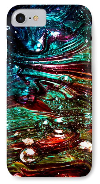 Glass Macro Abstract Rb3ce Phone Case by David Patterson