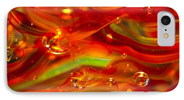 Glass Macro Abstract Rf1 Phone Case by David Patterson