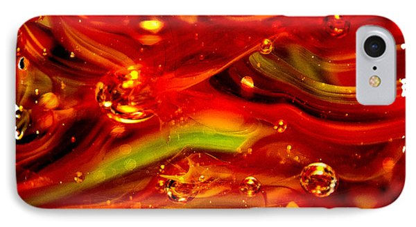 Glass Macro Abstract Rf1ce Phone Case by David Patterson