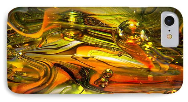 Glass Macro Abstract Rgo1 Phone Case by David Patterson