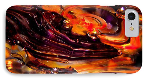 Glass Macro Abstract Rpo Phone Case by David Patterson