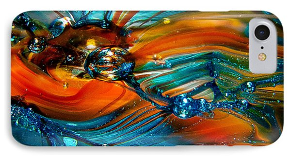 Glass Macro Abstract Rto Phone Case by David Patterson