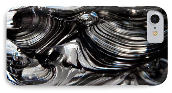 Glass Macro - Black And White Phone Case by David Patterson