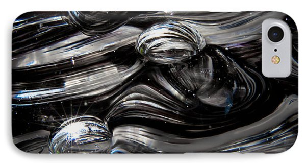 Glass Macro - Black And White II Phone Case by David Patterson