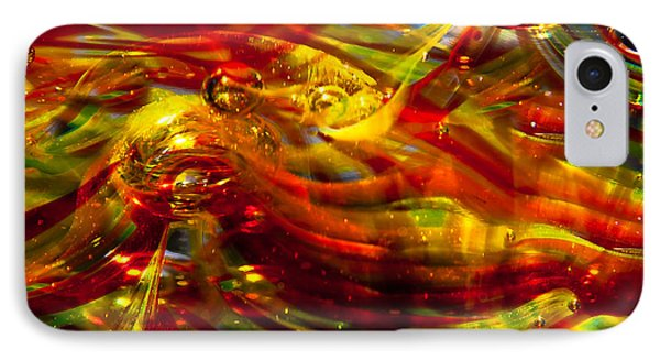 Glass Macro - Burning Embers Phone Case by David Patterson