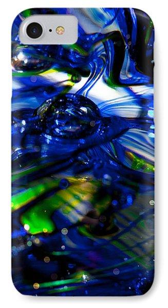 Glass Macro - Seahawks Blue Green Wave IPhone Case