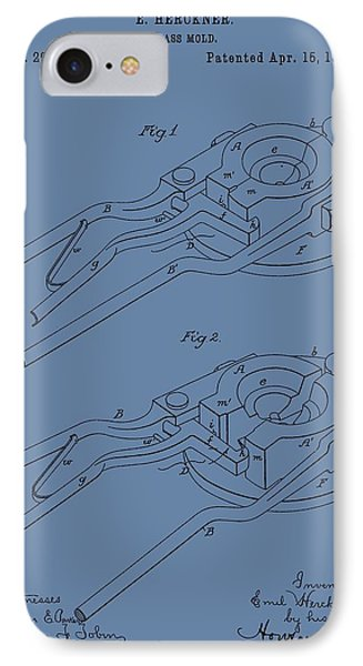 Glass Mold Patent On Blue IPhone Case by Dan Sproul
