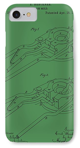 Glass Mold Patent On Green IPhone Case by Dan Sproul