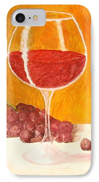 Glass Of Grapes IPhone Case