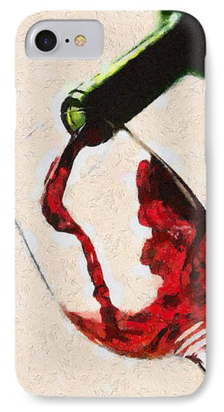 Glass Of Red Wine IPhone Case by Georgi Dimitrov