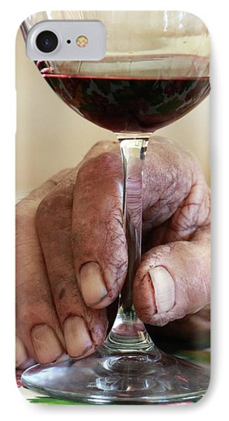 Glass Of Red Wine IPhone Case by Mauro Fermariello