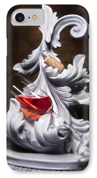 Glass Of Wine With Cork Still Life IPhone Case by Tom Mc Nemar