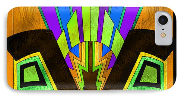 Glass Pattern 5 B IPhone Case by Chuck Staley