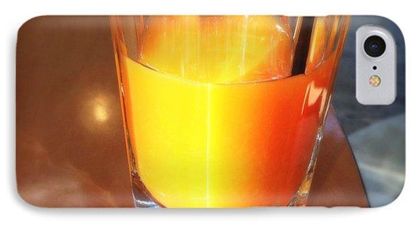 Glass With Orange Fruit Juice IPhone Case