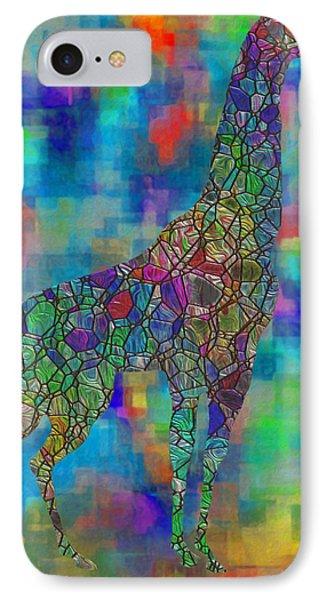 Glassed Giraffe IPhone Case by Jack Zulli