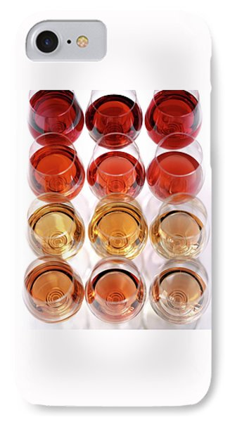 Glasses Of Rose Wine IPhone Case by Romulo Yanes