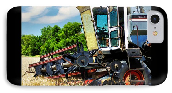 Gleaner F Combine IPhone Case by Bill Kesler
