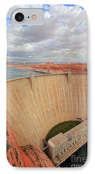 Glen Canyon Dam IPhone Case by Inge Johnsson