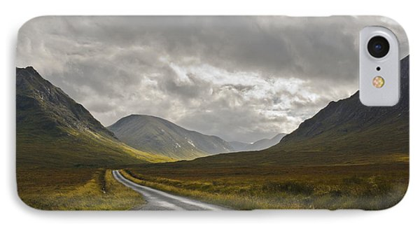 IPhone Case featuring the photograph Glen Etive In The Scottish Highlands by Jane McIlroy