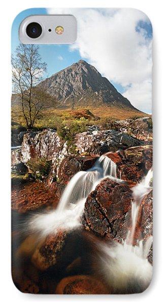 Glen Etive Mountain Waterfall Phone Case by Grant Glendinning