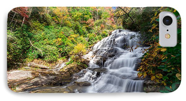 Glen Falls In North Carolina IPhone Case by Andres Leon