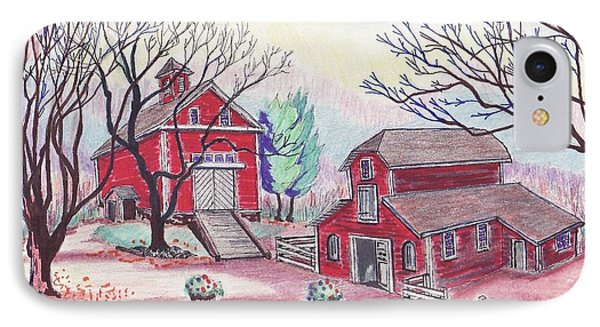 Glen Magna Farms - The Barns IPhone Case by Paul Meinerth