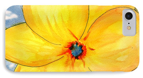 IPhone Case featuring the painting Glicee Cyan-a-floral by Clayton Bruster