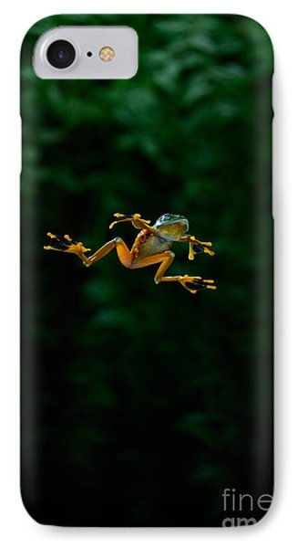 Gliding Frog In Flights IPhone Case by Scott Linstead
