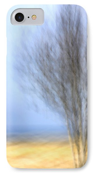 Glimpse Of Trees Sand And Beach IPhone Case by Carol Leigh