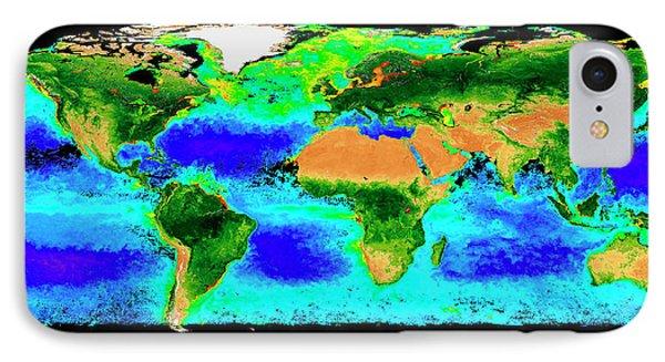 Global Biosphere IPhone Case by Nasa/seawifs/geoeye