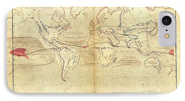 Global Circumnavigation IPhone Case by Library Of Congress, Geography And Map Division