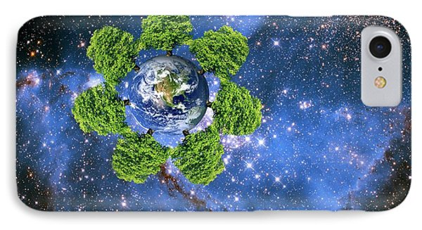 Global Environment IPhone Case by Victor De Schwanberg