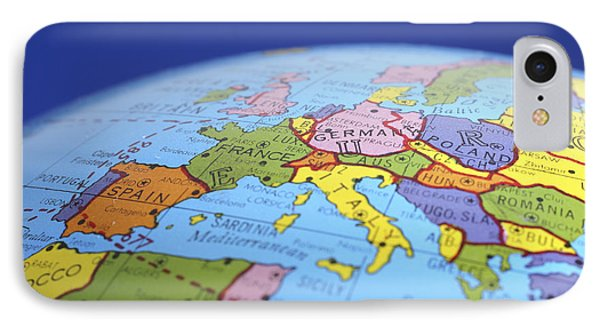 Global Map Europe IPhone Case by Donald  Erickson