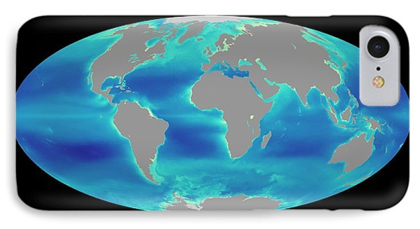 Global Phytoplankton Levels IPhone Case by Nasa/seawifs/geoeye