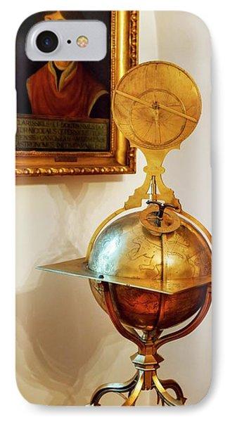 Globe And Portrait Of Copernicus IPhone Case by Babak Tafreshi