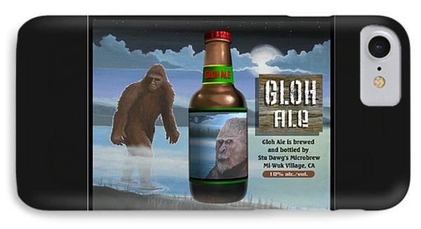 IPhone Case featuring the digital art Gloh Ale by Stuart Swartz