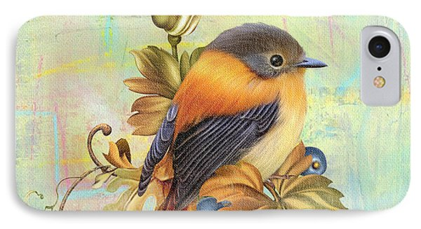 Glorious Birds On Aqua-a2 Phone Case by Jean Plout