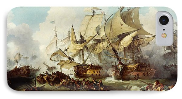 Glorious First Of June Or Third Battle Of Ushant Between English And French IPhone Case