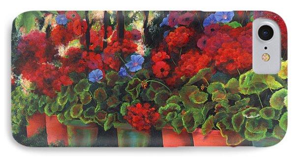 Glorious Geraniums IPhone Case