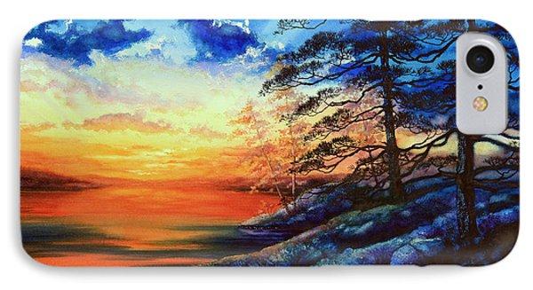 Glorious Lake Sunset Phone Case by Hanne Lore Koehler