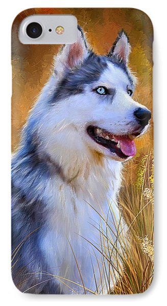 Glorious Pride - Siberian Husky Portrait IPhone Case by Lourry Legarde
