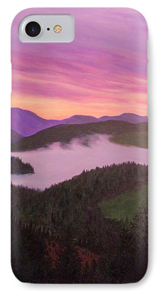 IPhone Case featuring the painting Glorious Sunset by Janet Greer Sammons