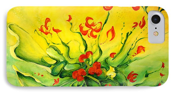 IPhone Case featuring the painting Glorious by Teresa Wegrzyn
