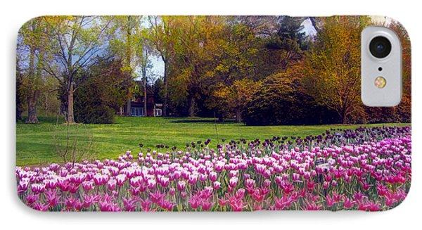 Glory Of Tulips IPhone Case by John Rivera