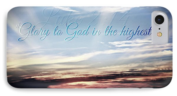 Glory To God IPhone Case by Sharon Soberon