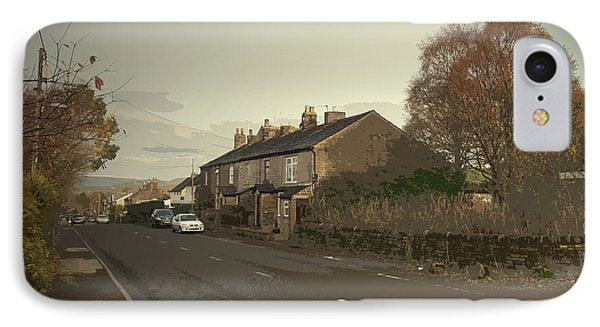 Glossop Road In Charlesworth, The A626 Road Seen Here IPhone Case by Litz Collection