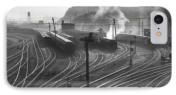 Glouster Railroad Yards IPhone Case by Underwood Archives